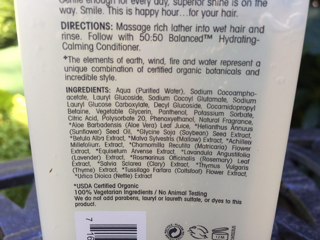 Giovani Shampoo ingredients