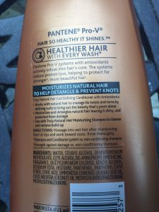 Pantene Truly Natural Cond Ingredients