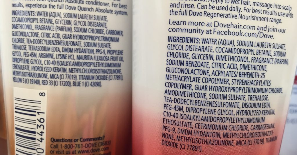 dove-quench-and-regenerate-shampoos-ingredients