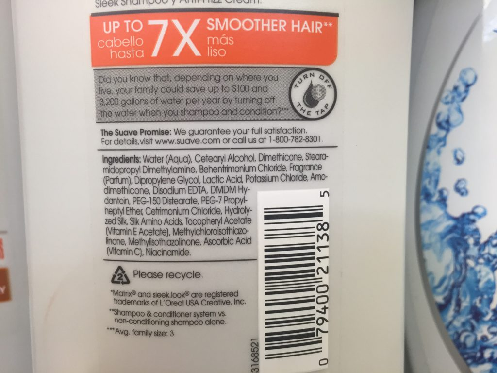 suave-sleek-conditioner-ingredients-potassium-chloride