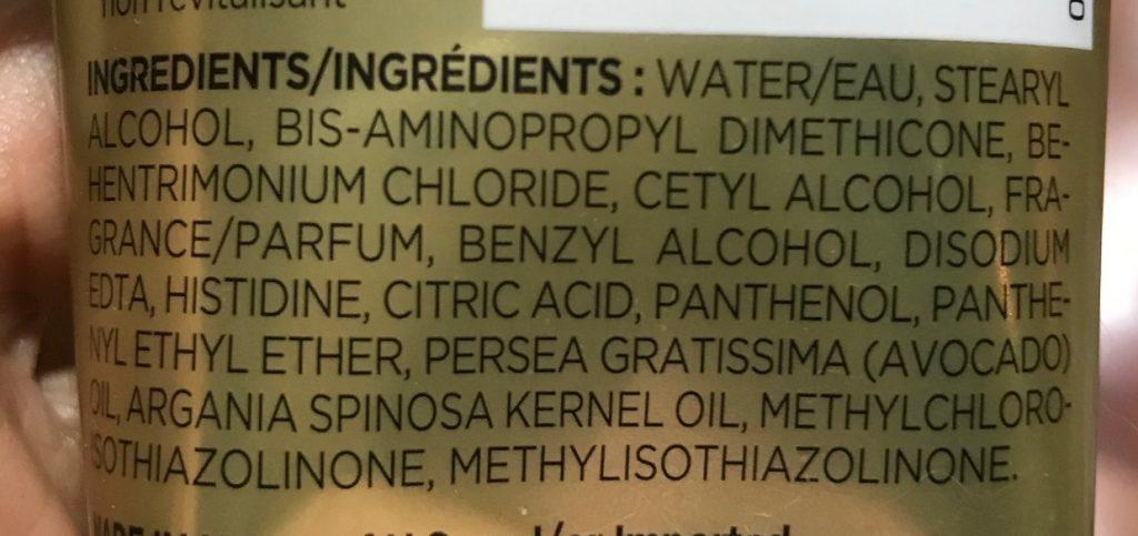 Pantene Smooth and Sleek Ingredients